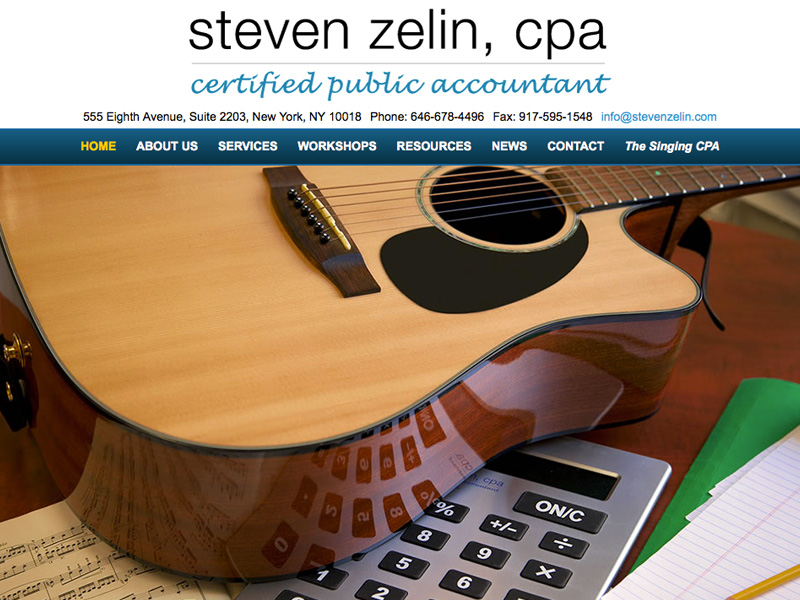 Steven Zelin, The Singing CPA